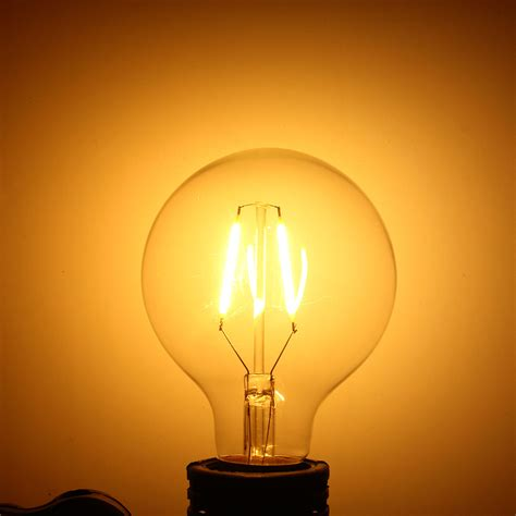 e27 2w warm white cob led filament retro edison