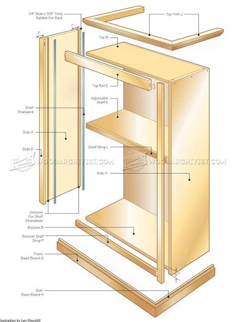 bookshelf plans office bookcase plans woodarchivist