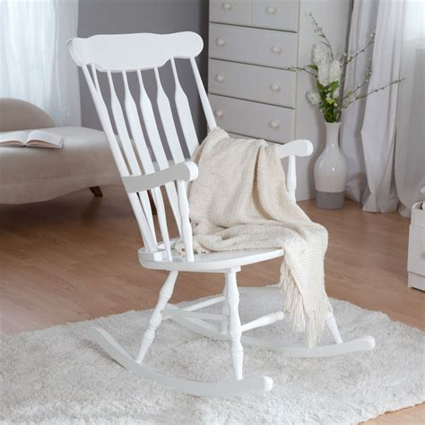 Belham Living Nursery Rocker White Indoor Rocking Rocking Nursery Chair
