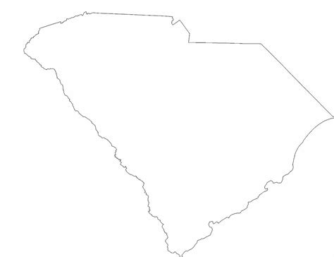 south carolina state outline map free download