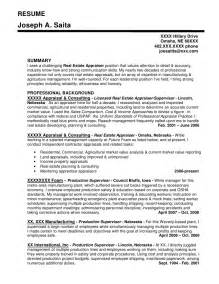 Real Estate Appraiser Trainee Sle Resume by Resume Sle 3 Pr Marketing Omaha Copywriter Services