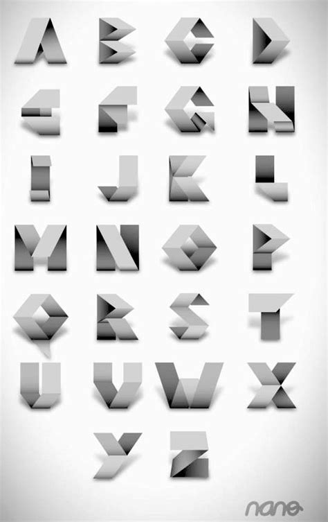 Origami Typeface - origami typeface 28 images this is made to look simple