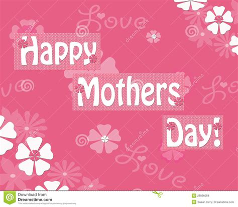 Happy Day Pink happy mothers day pink floral greeting notecard stock images image 28836084