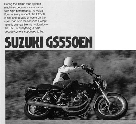 1979 Suzuki Gs550 Review Total Motorcycle Product Motorcycle Book Reviews And More