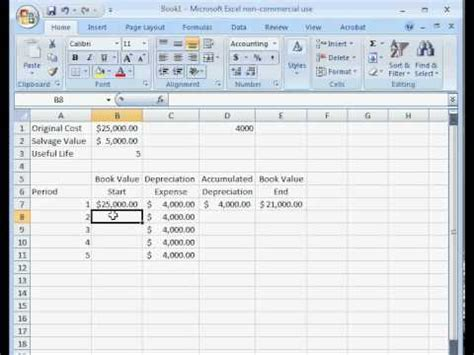 free depreciation schedule template for excel 2007 2016