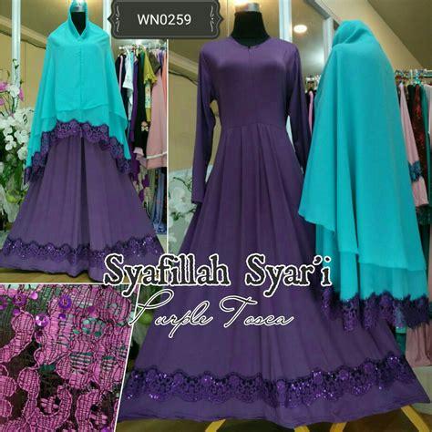Termurah Gamis Syari Ayunda Lavender Baju Batik Gamis ayuatariolshop distributor supplier gamis tangan pertama onlineshop baju hijabers syafilah