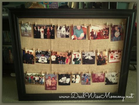 Handmade Photo Collage Ideas - clothesline style framed photo collage deal