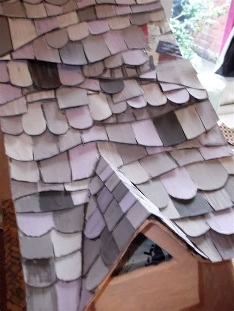 How To Make A Paper Roof - 386 best images about dollhouse construction materials