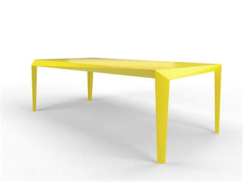 Yellow Dining Table Energy Dynamic And Minimal Yellow Table By Reinier De Jong Freshome
