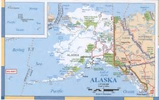 road map alaska usa maps of alaska