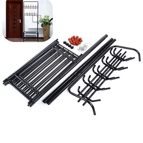 Metal Coat Rack With Shelf by 1pcs Metal Hat And Coat Stand Clothes Shoes Steel Stands Rack Hanger Hooks Tidy Shelf 3 Colors