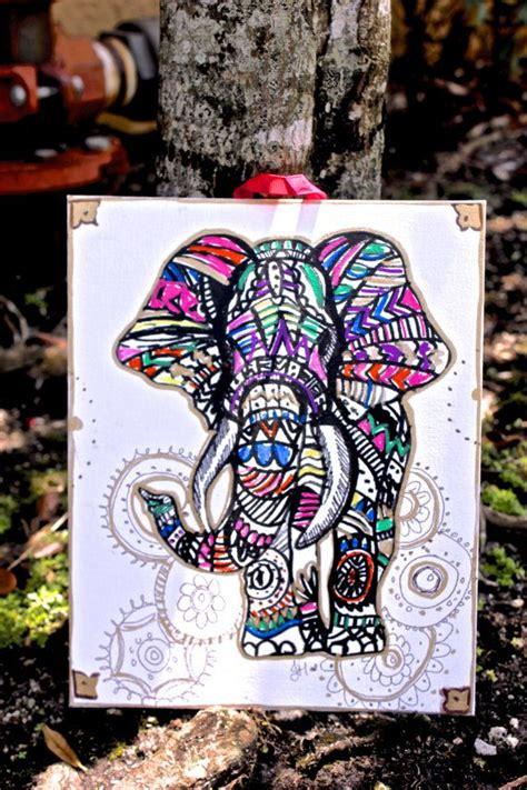 colorful elephant wallpaper colorful tribal elephant wallpaper