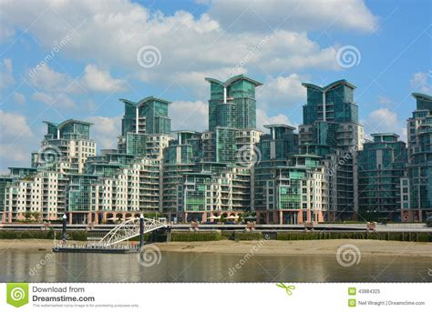 thames river apartments luxury appartment complex stock image image of luxury
