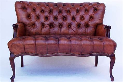 antique loveseat for sale pair of matching tufted leather loveseats for sale