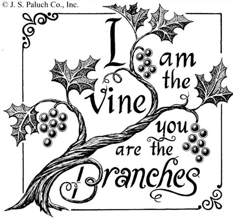 Coloring Page Vine And Branches by Free Coloring Pages Of I Am The True Vine