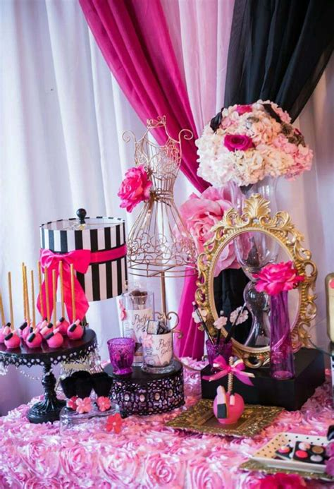 makeup themed party makeup gala boutique tea party birthday party ideas tea