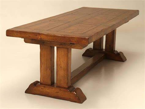 French Oak Trestle Dining Table With Two Leaves For Sale Trestle Dining Table With Leaf