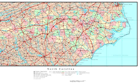 printable maps north carolina north carolina political map