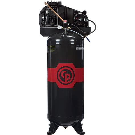 chicago pneumatic reciprocating air compressor 3 5 hp 60 gallon 208 230 volt 1 phase model