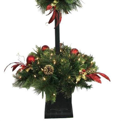 4 ft tree with lights home accents 4 ft artificial lantern porch tree