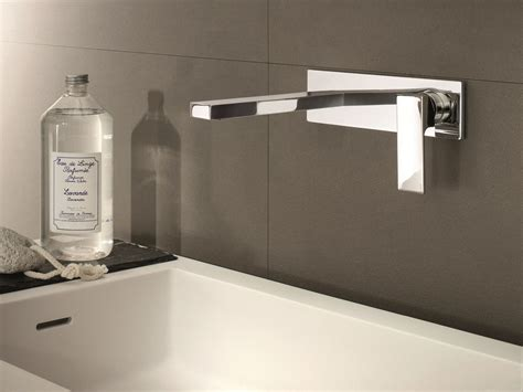 rubinetti a parete mint miscelatore per lavabo con piastra by fantini