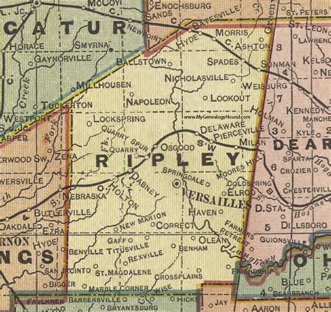 Search My County Indiana Ripley County Indiana 1908 Map Versailles