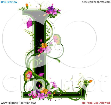l designs royalty free rf clipart illustration of a black capital