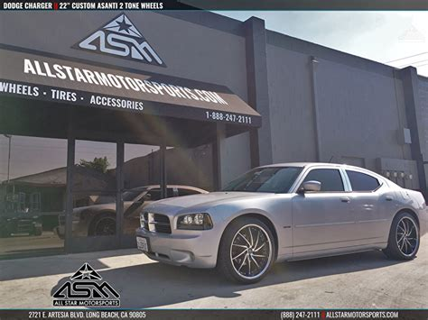 silver dodge charger custom 22 quot asanti two tone all