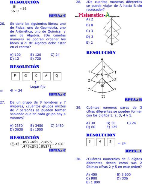 imagenes de matematicas resueltos an 193 lisis combinatorio ejercicios desarrollados