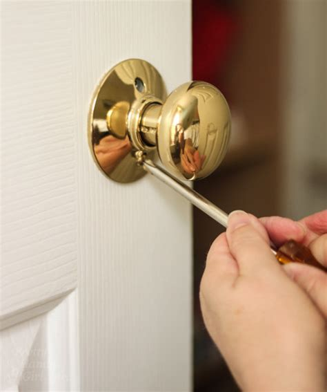 how to remove bedroom door knob how to replace door knobs and deadbolts pretty handy girl
