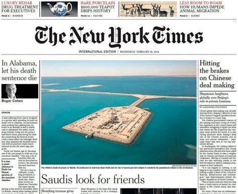 Pdf New York Times Free Article by The New York Times International 28 02 2018 Pdf
