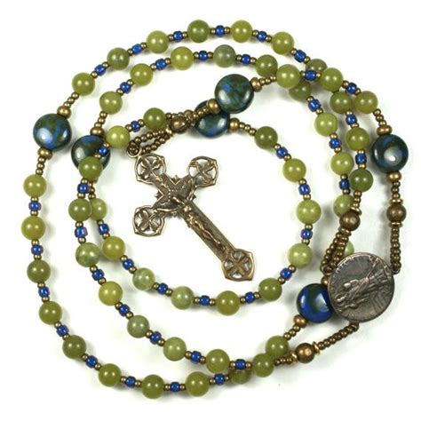 Handmade Jewellery Belfast - handmade celtic rosary with shamrocks and st
