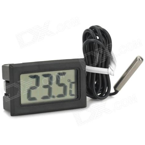 Termometer Sensor digital compact lcd thermometer with outdoors remote sensor black free shipping dealextreme