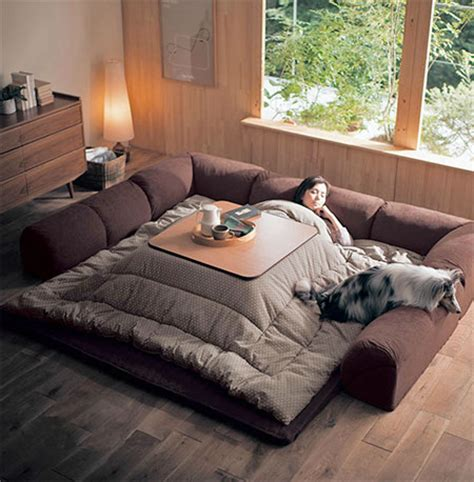 kotatsu bed heated table bed