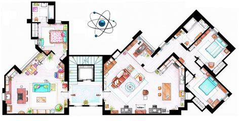 Frasier Apartment Floor Plan the big bang theory how can penny afford a one bedroom
