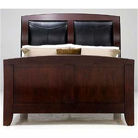 sleigh bed leather headboard casana rodea sleigh bed with leather upholstered headboard