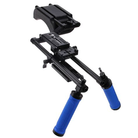 Stabilizer Kamera Shoulder Support Rig Handgrip Omcsdybk camcorder dslr stabilizer shoulder mount support rig kit w dual grip ebay