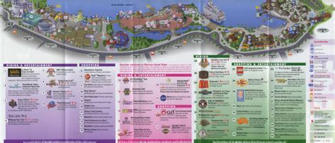 map of downtown disney theme park brochures downtown disney theme park brochures