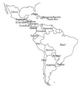 map of mexico and south america and central america