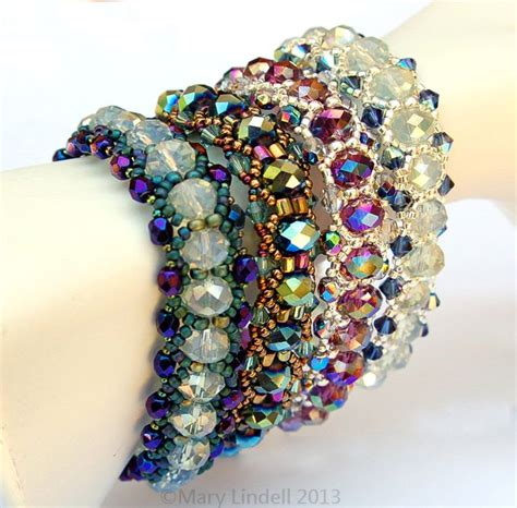 Free beading pattern for lazy susan bracelet mary lindell artisan
