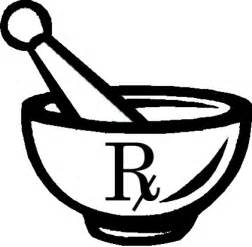 Pharmacy Symbol Mortar And Pestle sketch template