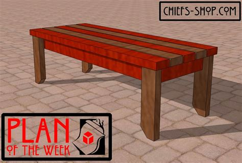 bench construction plan of the week 2 215 4 bench chief s shop