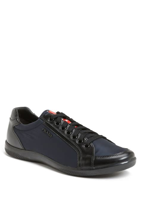 low profile sneakers prada offshore low profile sneaker in black for blue