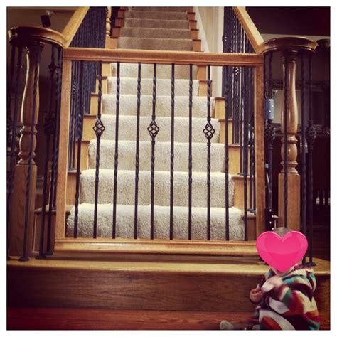 banister safety gate baby gate that matches your staircase home sweet home