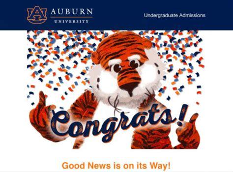Auburn Acceptance Letter Achona Update On College Acceptances