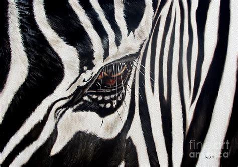 zebra paint zebra eye painting by ilse kleyn