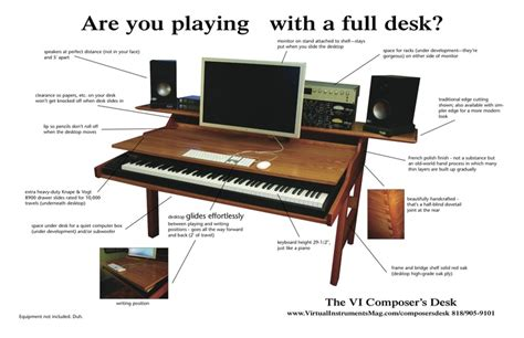 Small Recording Studio Desk The Vi Composer S Desk When You Want To Lay Some You Don T To Slide Your Chair