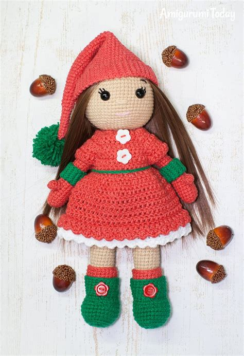 patterns christmas dolls christmas doll crochet pattern printable pdf amigurumi