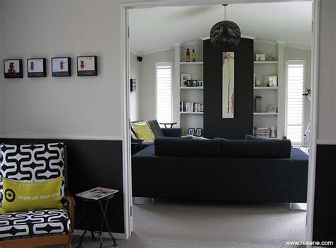 Black And Grey Bedroom A Stylish Dining Room With A Dado Rail And A Dark Colour
