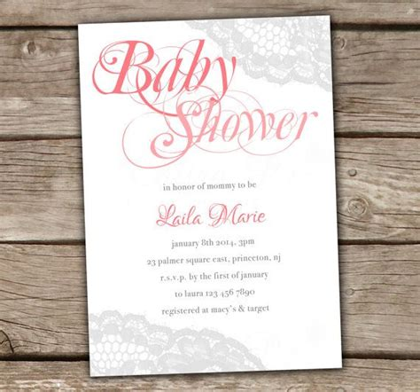 diy vintage baby shower invitations lace baby shower invitations diy printable bridal